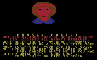 Monkey Magic - Title screen screenshot