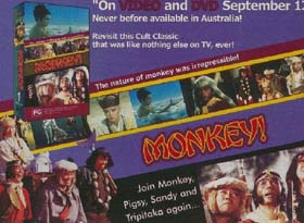 Advert for Australian Monkey video and DVD release